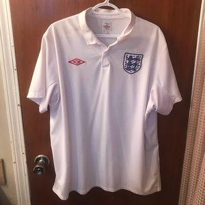 Umbro England men's polo